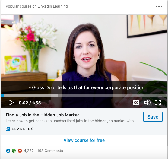 Example of a Sponsored Video Ad